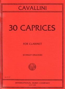 Ernesto Cavallini - 30 Caprices For Clarinet - Sheet Music - di-arezzo.com