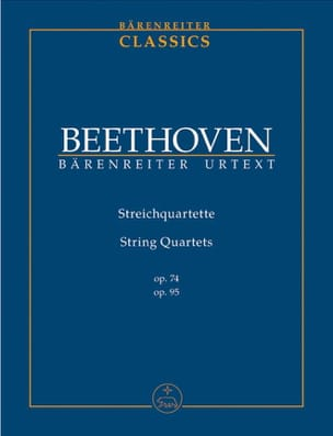 BEETHOVEN - String Quartets Op.74 & 95 - Partition - di-arezzo.fr