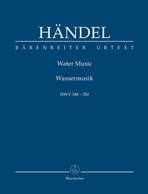 HAENDEL - Water Music Hwv348-350 - Sheet Music - di-arezzo.co.uk