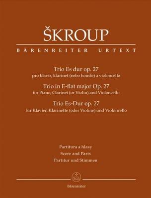 Trio En Mib Maj. Opus 27 - Frantisek Jan Skroup - laflutedepan.com