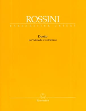 Gioacchino Rossini - Duetto Cello / Double Bass - Sheet Music - di-arezzo.com