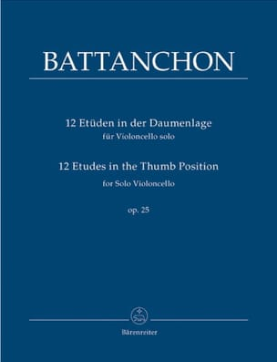 Félix Battanchon - 12 Etudes In The Thumb Position Op.25 - Partition - di-arezzo.ch