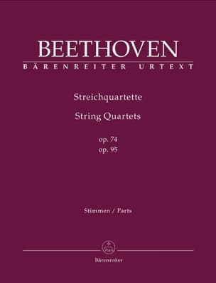 BEETHOVEN - Quartetti per archi Op.74 - 95 - Partitura - di-arezzo.it