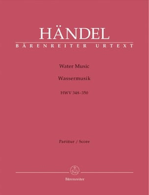 Water Music HWV 348-350 HAENDEL Partition Grand format - laflutedepan
