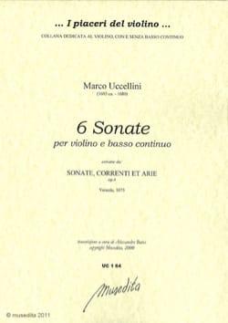 Marco Uccellini - 6 Sonates –Violon et Bc - Partition - di-arezzo.fr
