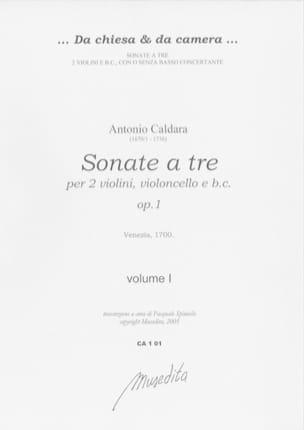 Sonate a tre op. 1 - Volume 1-2 Antonio Caldara Partition laflutedepan