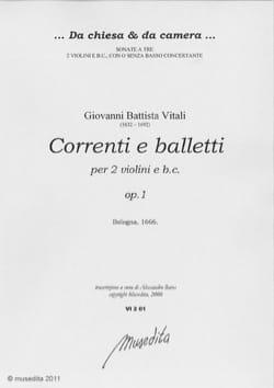 Giovanni Battista Vitali - Correntia balletti da camera op. 1 - Sheet Music - di-arezzo.com