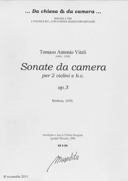 Tommaso Antonio Vitali - Sonate da camera op. 3 - Partition - di-arezzo.fr