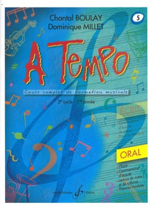 Chantal BOULAY et Dominique MILLET - A Tempo Volume 5 - Oral - Sheet Music - di-arezzo.co.uk