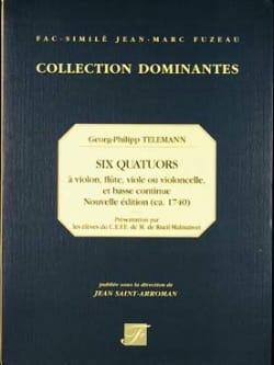 6 Quatuors - Vl, FL, V de g, Vlc, b.c. - laflutedepan.com