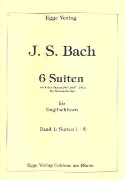 6 Suites Volume 1 BACH Partition Hautbois - laflutedepan