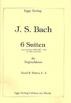 6 Suites Volume 2 BACH Partition Hautbois - laflutedepan