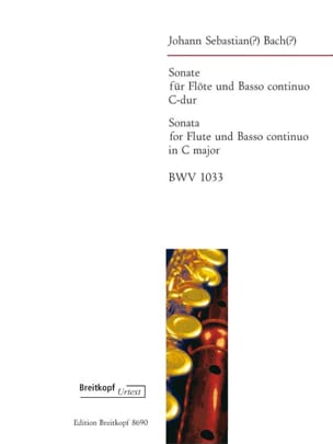 BACH - Sonata in C Maj. BWV 1033 - Sheet Music - di-arezzo.co.uk