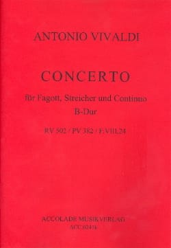 VIVALDI - Concerto In Bb Shift - F. 8 No 24 For Bassson - Sheet Music - di-arezzo.com