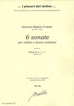 Giovanni Battista Fontana - 6 Sonatas Extr. Sonatas A 1, 2, 3 - Sheet Music - di-arezzo.com