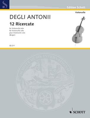 Degli giovanni battista Antonii - 12 Ricercate - Partitura - di-arezzo.es