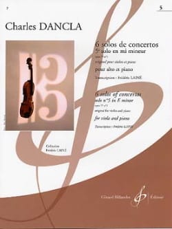 DANCLA - 5th Concerto Solo in E minor op 77 n ° 1 - Alto - Sheet Music - di-arezzo.com