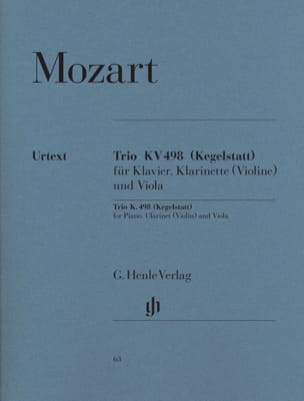 MOZART - Trio Kv 498 Kegelstatt - Sheet Music - di-arezzo.co.uk