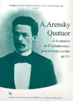 Anton Stepanovitch Arensky - Quatuor Opus 35a - Partition - di-arezzo.fr
