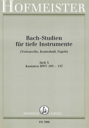 BACH - Bach Studien Für Tiefe Instr. - Heft 3 - Sheet Music - di-arezzo.co.uk