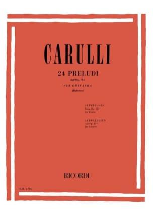 Ferdinando Carulli - 24 Preludes Opus 114 - Sheet Music - di-arezzo.co.uk