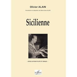 Olivier Alain - Sicilienne Opus 24 - Partition - di-arezzo.fr