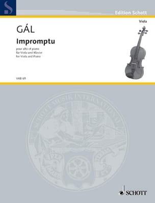 Hans Gal - Impromptu - Partition - di-arezzo.fr