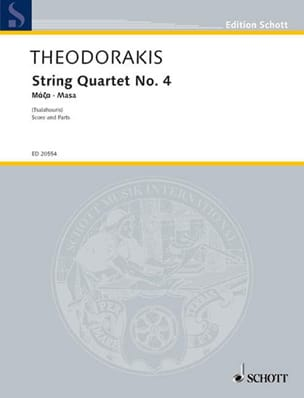 Quatuor A Cordes N°4 - Masa THEODORAKIS Partition laflutedepan