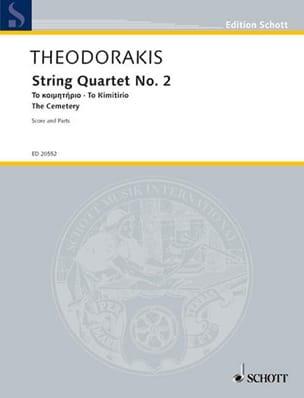 Mikis Theodorakis - String Quartet No. 2 - The Cemetery - Sheet Music - di-arezzo.co.uk