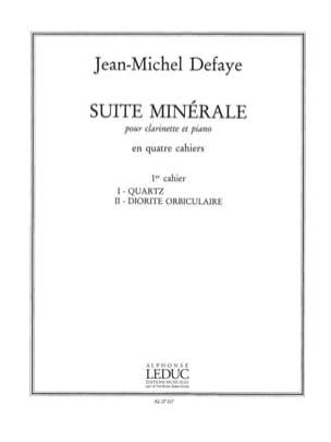 Jean-Michel Defaye - Suite minérale – 1° Cahier - Partition - di-arezzo.fr