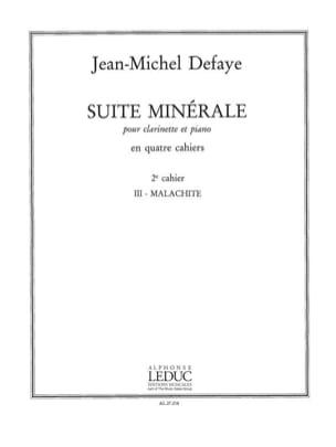 Jean-Michel Defaye - Suite minérale – 2° Cahier - Partition - di-arezzo.fr