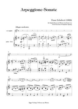 Sonate Arpeggione - SCHUBERT - Partition - Hautbois - laflutedepan.com