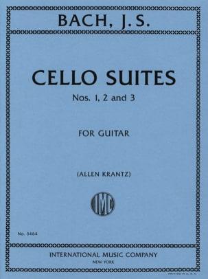 BACH - Suites N° 1, 2 et 3 Transcrites Pour Guitare - Partition - di-arezzo.fr