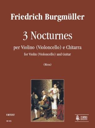 3 Nocturnes Friedrich Burgmüller Partition 0 - laflutedepan