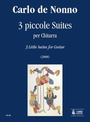 3 Petites Suites - Nonno Carlo De - Partition - laflutedepan.com