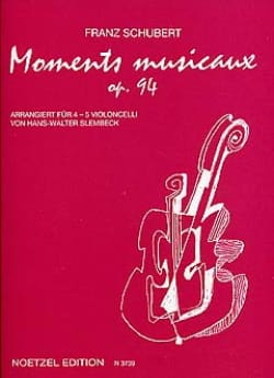 Franz Schubert - Moments Musicaux - Partition - di-arezzo.fr