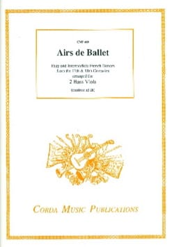 - Ballet tunes - 2 Basses of viol - Sheet Music - di-arezzo.com