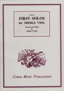 - First Solos for Treble Viol - Partition - di-arezzo.fr