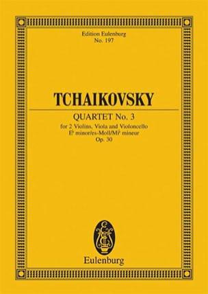 TCHAIKOVSKY - Streich-Quartett Es-Moll, Op. 30 - Conductor - Sheet Music - di-arezzo.co.uk
