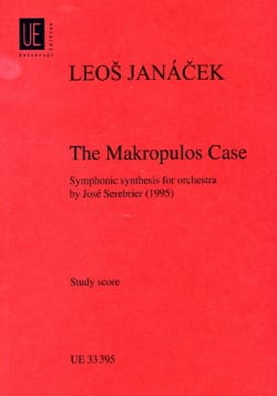 Leos Janacek - The Makropulos Case - Partition - di-arezzo.fr