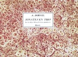 Sonates En Trio Oeuvre 3ème Louis-Antoine Dornel laflutedepan