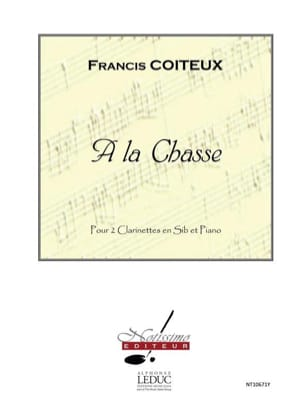 A la Chasse Francis Coiteux Partition Trios - laflutedepan