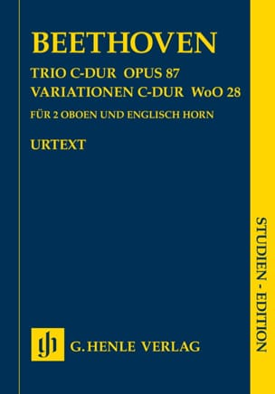 Ludwig van Beethoven - Trio en Ut majeur op. 87 - Variations en Ut majeur WoO 28 pour 2 hautbois et cor - Partition - di-arezzo.fr