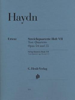 Joseph Haydn - Quatuors à cordes volume VII op. 54 et 55 (Quatuors Tost) - Partition - di-arezzo.fr