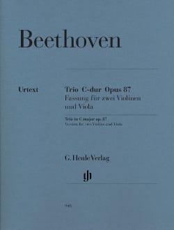 BEETHOVEN - Trio in C major op. 87 - Sheet Music - di-arezzo.com