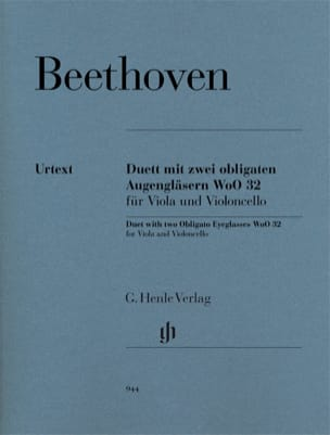 BEETHOVEN - Duo For two eyepieces obliged WoO 32 for viola and cello - Sheet Music - di-arezzo.co.uk