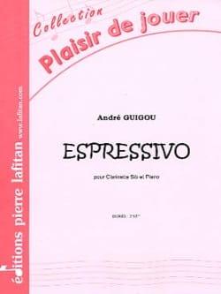 Espressivo - André Guigou - Partition - Clarinette - laflutedepan.com