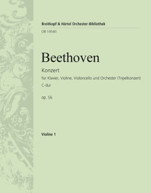 BEETHOVEN - Konzert C-Dur op. 56 Triple-Konzert - violin 1 - Partition - di-arezzo.com