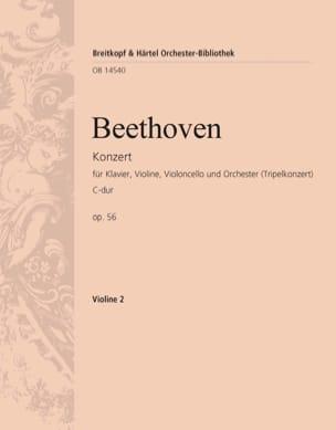 Konzert C-Dur op. 56 Triple-Konzert - violon 2 - laflutedepan.com