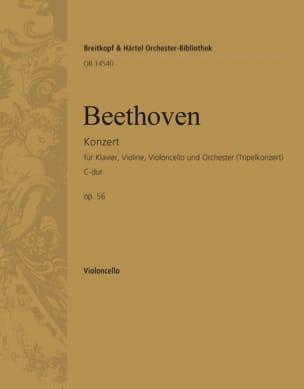 BEETHOVEN - Konzert C-Dur op. 56 Triple-Konzert - cello - Partition - di-arezzo.com